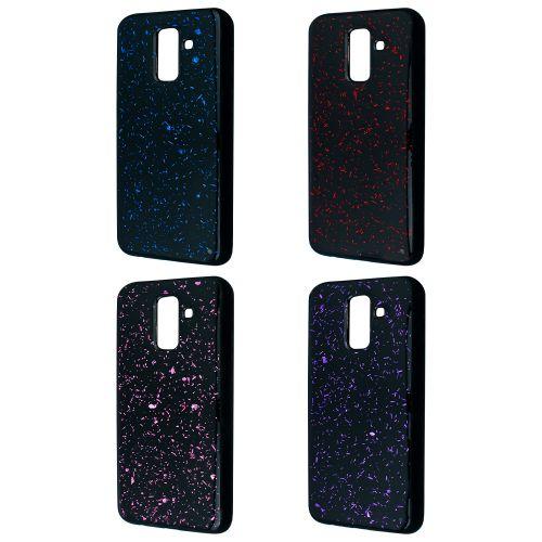 Confetti Black TPU Case Samsung A6 Plus