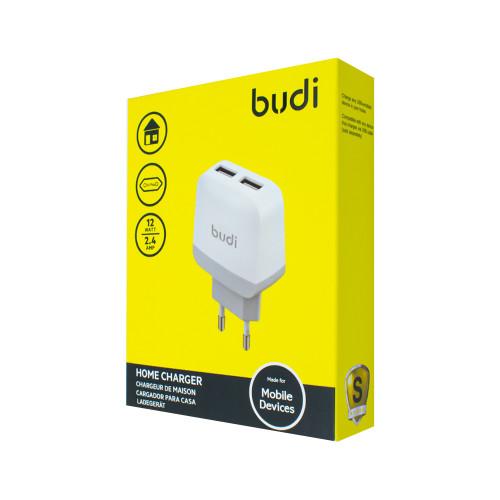 Home Charger Budi 2 USB 2.4A top slots M8J940E (AC940)EW